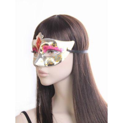 Metallic and glitter mask