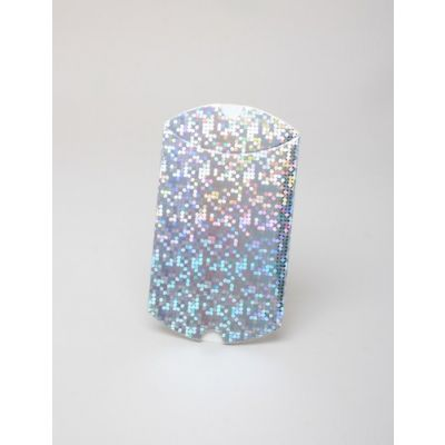 Size: 9x8x3cm Silver holographic pillow pack box.