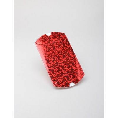Size: 9x8x3cm Red holographic pillow pack box.
