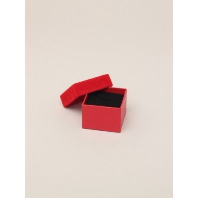 Size: 5x5x3.5cm Red gift box with velour lid.