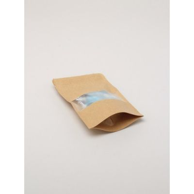 Size: 14x9x4cm Lined brown paper food grade bag.