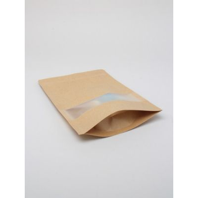 Size: 26x18x5cm Lined Brown paper food grade bag