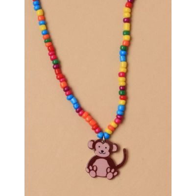 © Childrens beaded necklace with Animal pendant.