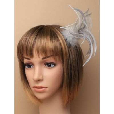© Style Flora, Sinamay fascinator on a clip and pin fitting