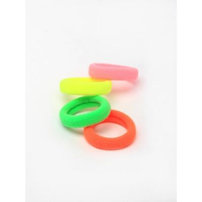 Jersey elastics - Neon mix - 6mm thick - Card of 8