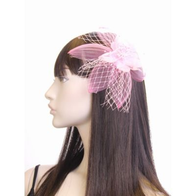© Style Emma, flower net fascinator on a clip and pin.