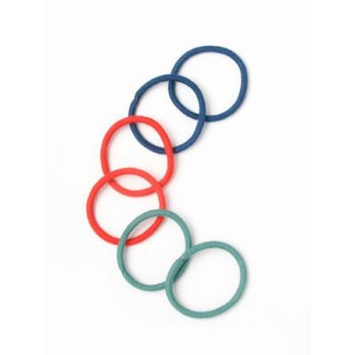 Cotton elastics - Assorted - 4mm thick - Card of 6
