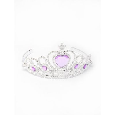 Plastic tiara with heart gem. Clear and Lilac only.