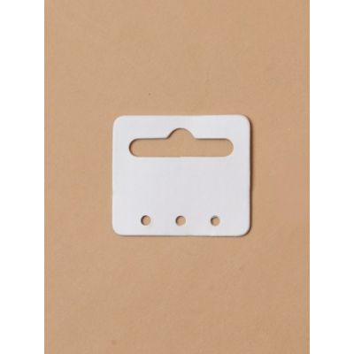 Plain white Euro hole cards. Pack of 100