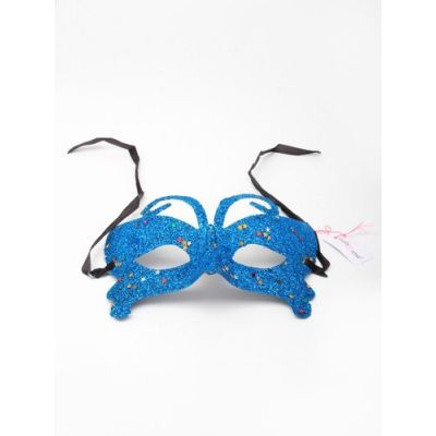 Glitter masquerade mask with silver star detail