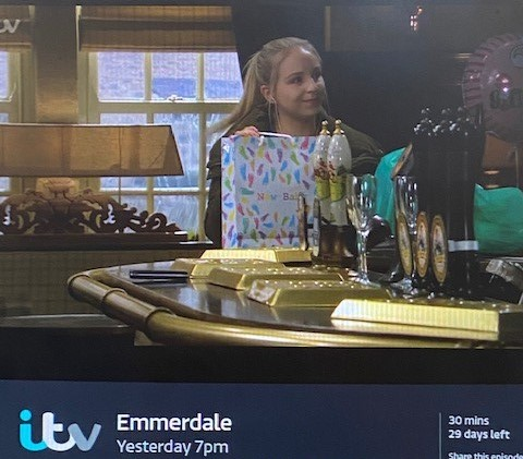 Emmerdale - spotted... our Gift Packaging