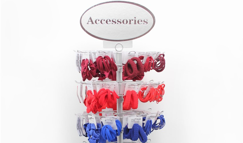 School Hair Accessories on a display stand
