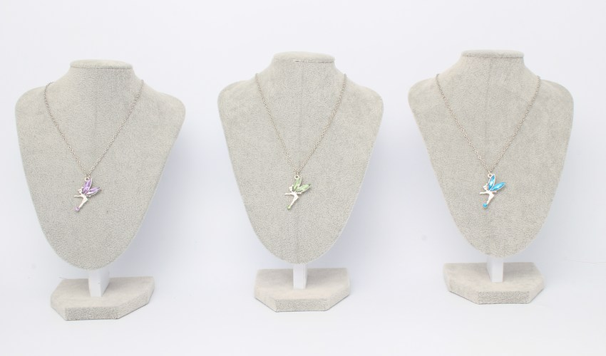 Wholesale display stands for jewellery - grey display busts for neckalces