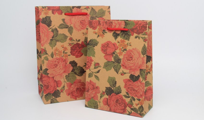 Wholesale Floral Print Gift Bags